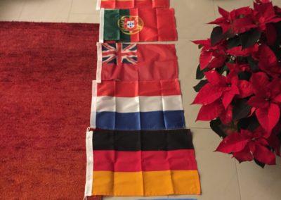 Alle nötigen Gastlandflaggen