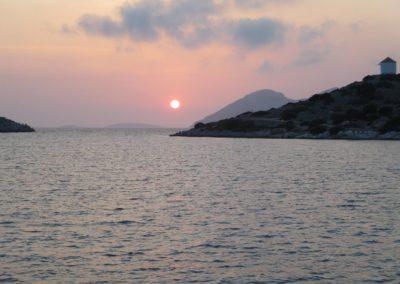 Sonnenuntergang auf Panormitis