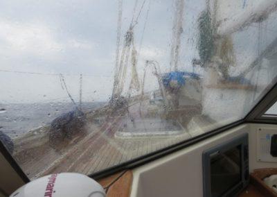 Auch Regen gibt es auch in der Ägäis